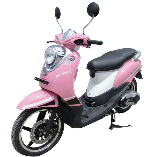 Pink Motor Scooter