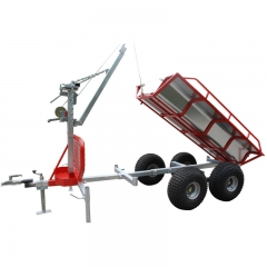 ATV Log Trailer With Crane