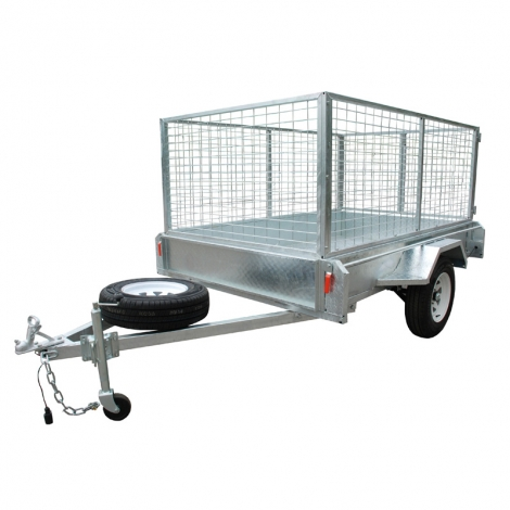 Zincato 5 x 8 Box Trailer